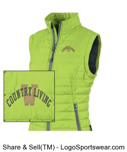 Ladies Radius Quilted Vest Design Zoom