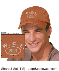 NEW for 2013!  WCL Baseball Cap Design Zoom