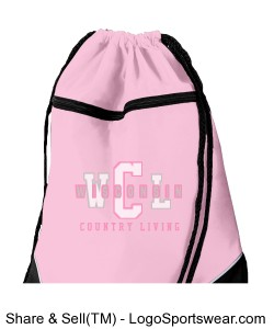 Tri-Color Drawstring Backpack Design Zoom